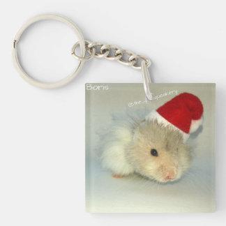 Hamster Santa! Acrylic Keychains