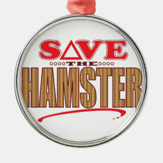 Hamster Save Christmas Ornament
