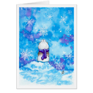 Hamster Snowflake Thinking of you Card