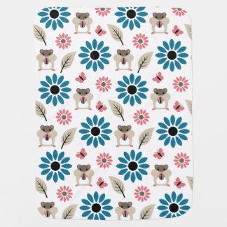 Hamster & Sunflower seamless pattern Baby Blanket