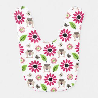 Hamster & Sunflower Seamless Pattern Bib