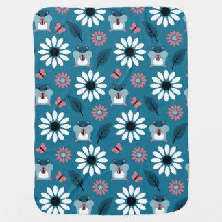 Hamster & Sunflower seamless pattern (ver.2) Baby Blanket