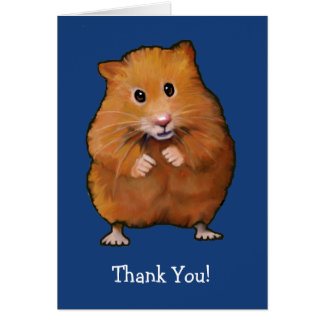 HAMSTER: THANK YOU CARD: ART NOTE CARD