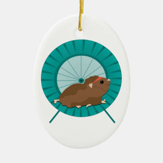 Hamster Treadmill Christmas Ornament