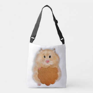 Hamster with biscuit All-Over-Print Cross Body Bag