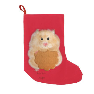 Hamster with biscuit Christmas Stocking