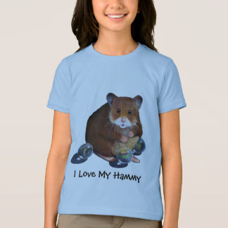 HAMSTER With Marbles, I Love My Hammy Tees