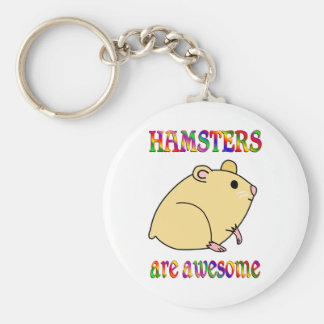 Hamsters are Awesome Basic Round Button Key Ring