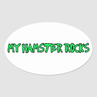 hamsters are cool oval sticker