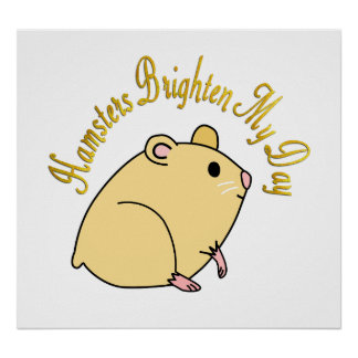 Hamsters Brighten My Day Poster