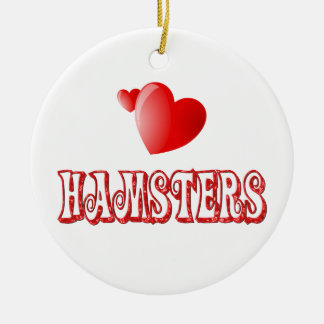 Hamsters Christmas Ornament