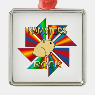 Hamsters Rock Christmas Ornament