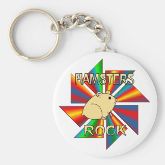 Hamsters Rock Key Chains