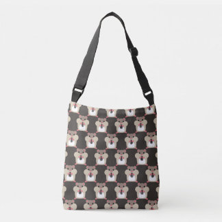 Hamsters seamless pattern crossbody bag