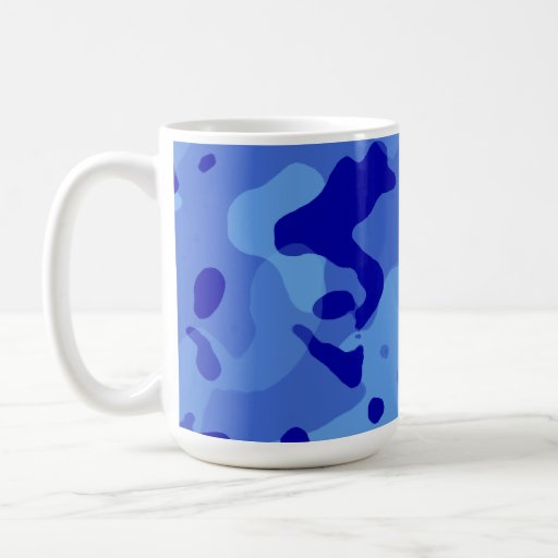 Han Blue Camo; Camouflage Mug