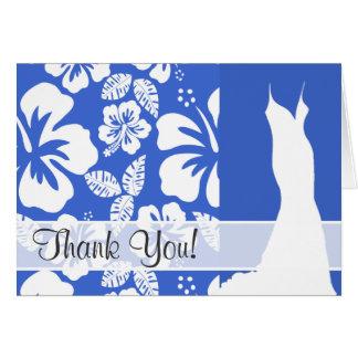 Han Blue Hawaiian Tropical Hibiscus Card