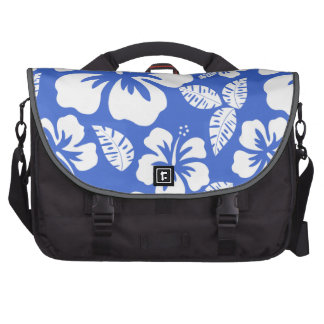 Han Blue Hawaiian Tropical Hibiscus Bags For Laptop