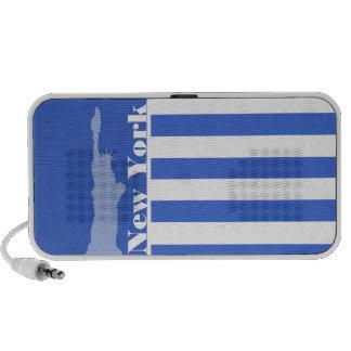 Han Blue Horizontal Stripes; New York Mp3 Speaker