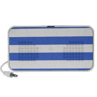 Han Blue Horizontal Stripes Travelling Speakers