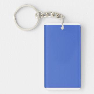 Han Blue Rectangular Acrylic Keychains