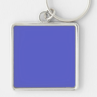 HAN BLUE (solid color) ~ Silver-Colored Square Key Ring