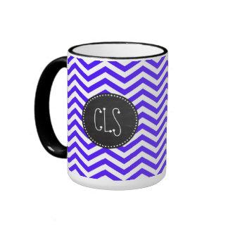 Han Purple Chevron Stripes; Chalkboard Ringer Mug