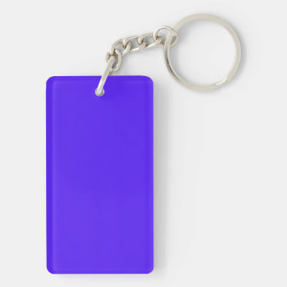Han Purple Classic Colored Double-Sided Rectangular Acrylic Key Ring