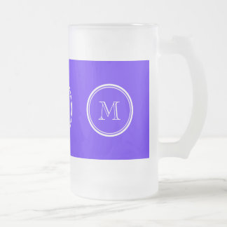 Han Purple High End Colored Monogram Frosted Glass Mug