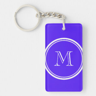 Han Purple High End Colored Monogram Rectangle Acrylic Key Chains