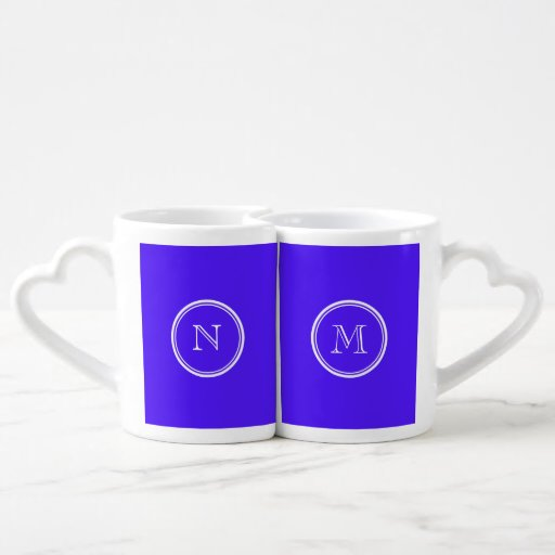 Han Purple High End Colored Monogram Couple Mugs