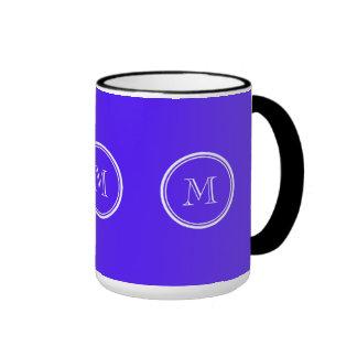 Han Purple High End Colored Monogram Ringer Mug