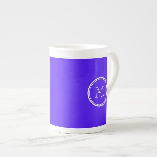 Han Purple High End Colored Monogram Porcelain Mug