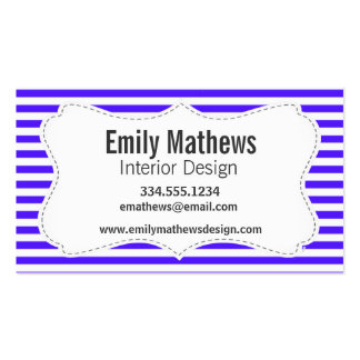 Han Purple Horizontal Stripes; Striped Pack Of Standard Business Cards