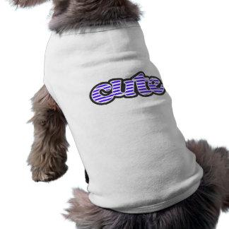 Han Purple Horizontal Stripes; Striped Sleeveless Dog Shirt