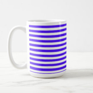 Han Purple Horizontal Stripes Striped Mugs