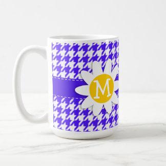 Han Purple Houndstooth Daisy Coffee Mug