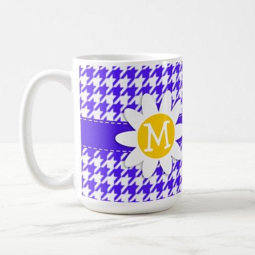 Han Purple Houndstooth; Daisy Coffee Mug