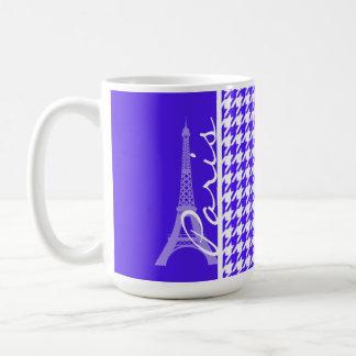 Han Purple Houndstooth Paris Coffee Mugs