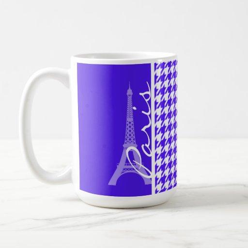 Han Purple Houndstooth; Paris Coffee Mugs