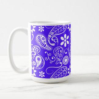 Han Purple Paisley Floral Coffee Mugs