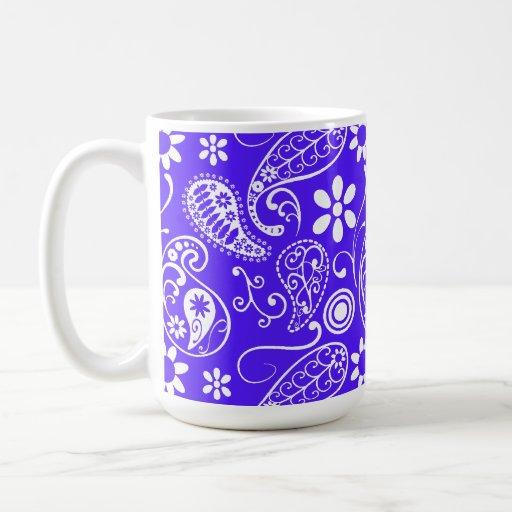 Han Purple Paisley; Floral Coffee Mugs