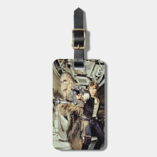 Han Solo and Chewie Still A Luggage Tag