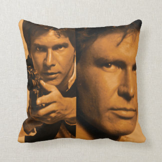Han Solo  Photo Collage Throw Pillow
