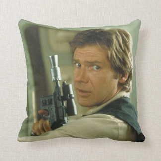 Han Solo Photograph Throw Pillow