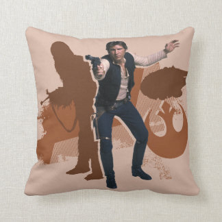 Han Solo Still Throw Pillow