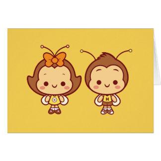 Hana and Hachi Notecard