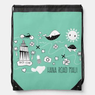 """Hana Road Maui"" Bag Drawstring Bags"