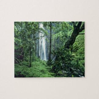 Hanakapiai Falls along the Na Pali Coast, Kauai, Jigsaw Puzzle