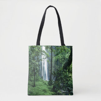 Hanakapiai Falls along the Na Pali Coast, Kauai Tote Bag