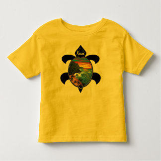 """Hanakapiai""-Na Pali Sunset/Turtle Design Toddler T-Shirt"